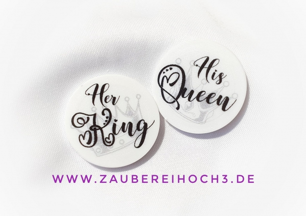1 x 10 Chip Her King oder His Queen