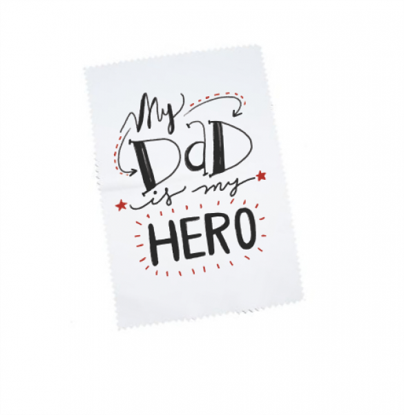 "Brillenputztuch ""My DAD is my Hero"""